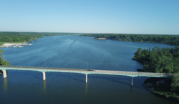 Poreshield is Safe and Sustainable - bridge over river application